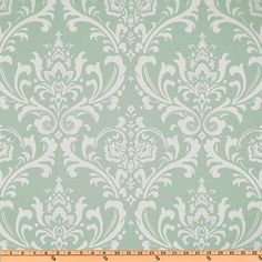 Premier Prints Ozborne- Powder Blue Damask - Fabric by the Yard