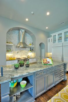 6 Via Aragon - San Antonio Parade of Homes - contemporary - kitchen - austin - SilverLeaf Custom Homes / Interiors by KM
