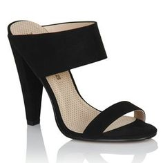af44f2a2815 Outlet Paper Dolls Black Two Strap Slip On Heels Outlet Exclude from  Peoplevox   Little Mistress