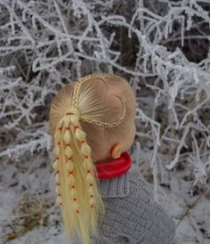 ❤️ Braided heart into a bubble ponytail ❤ by ️@studiohilde . The ponytail is inspired by @goudhaartje.nl and the elastics are from her as well 😊 . . . . #braid #braids #braided #braiding #braidideas #ponytail #heartbraid #flette #peinado #trenza #tresse
