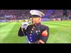 Dan Clark US Marine Corps Vet Sings God Bless America at 2013 World Series