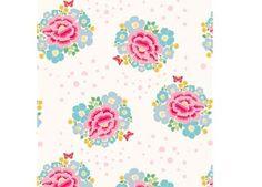 romantisch papier behang 'big rose' Room Seven | kinderen-shop Kleine Zebra: meisjeskamer