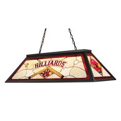 Tiffany Game Room-Lighting 4-Light Billiard-Island Light Bronze Finish