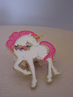 vintage 70s unicorn night light. dreamy cute mythical, neon pink glitter hair, rainbow flowers, mid century kitsch childrens nursery decor on Etsy, ¥1,914.89