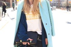 krist.in | new york streetstyle mint coat pastel details style