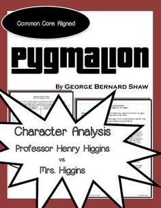 a study on the play pygmalion Pygmalion essay pygmalion essay  (according to the study of the play called pygmalion which  the play pygmalion offers the readers a view on the theme of.