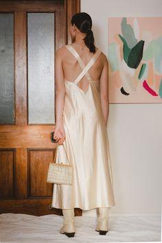 Cross back detail with elegant flair. Poly Size: 8 - 10 In perfect Vintage Condition Elegant, Vintage, Dresses, Fashion, Classy, Vestidos, Moda, Fashion Styles, Vintage Comics