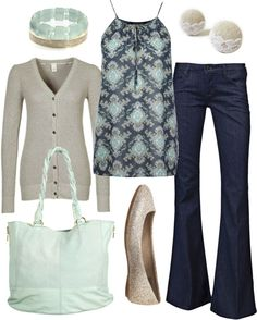 """muted mint"" by htotheb on Polyvore"