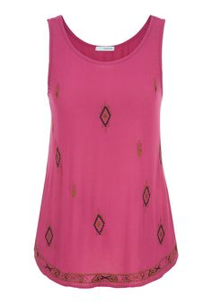 sleeveless top with embroidery and beading