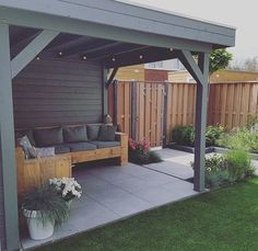 garden terraza Back Garden Design Garden Ideas Budget Backyard, Backyard Patio Designs, Small Backyard Landscaping, Patio House Ideas, Back Gardens, Outdoor Gardens, Diy Gazebo, Pergola Kits, Carport Ideas