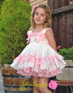 La Amapola vega pink older girl puff ball dress with head band Girls Dresses Sewing, Frocks For Girls, Little Dresses, Little Girl Dresses, Dollcake Dresses, Frilly Dresses, Girly Girl Outfits, Cute Outfits For Kids, Girl Baby Pic