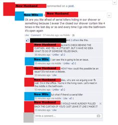 Couple fighting over Facebook