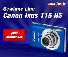 guenstiger.de verlost auf Facebook  die Digitalkamera Canon Ixus 115 HS. Ihr könnt bis zum 13. September mitmachen. Viel Glück!     http://www.facebook.com/guenstiger.de
