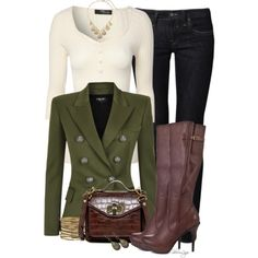 A fashion look from October 2014 featuring Jane Norman sweaters, Balmain blazers and Mavi jeans. Browse and shop related looks.