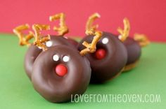 Christmas Reindeer Mini Donuts