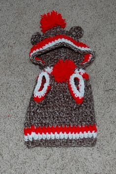 (4) Name: 'Crocheting : Sock Monkey Dog Hoodie Sweater - this is for Zeus to make the baby laugh!