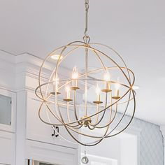 Gregoire 6 - Light Unique/Statement Globe Chandelier Finish: Olde Silver, Size: in 2020 (With images) Foyer Chandelier, Chandelier Lighting, Dinning Room Chandelier, Chandelier Ideas, Living Room Chandeliers, Unique Chandelier, Lantern Lighting, Lantern Chandelier, Contemporary Chandelier