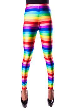 15 OFF /// Rainbow Brite Leggings by MessQueenNewYork on Etsy, $57.80