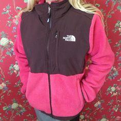 North Face Denali Jacket Woman's Small North Face Denali Jacket Woman's Small - Hot Pink & Brown in good condition. North Face Jackets & Coats