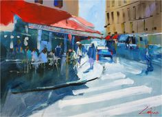Streetscapes - A selection of paintings by artist Craig Penny Australian Artists, Artsy Fartsy, Scene, Paintings, Graphic Design, Street, Artists, Art, Painting Art