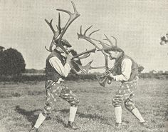 abbots bromley horn dance, from 'peoples of the world in pictures'