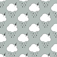 Storm Clouds fabric Sierra Gallagher on Spoonflower - custom fabric Surface Pattern Design, Pattern Art, Cloud Fabric, Clouds Pattern, Storm Clouds, Pattern Illustration, Gorgeous Fabrics, Graphic Patterns, Background Patterns