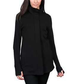 Another great find on #zulily! Black Signature Jacket by GIVE apparel meaning #zulilyfinds