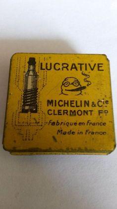 Very Rare, Vintage Michelin & Cie ,automotiv valve tin ,smoking Bibendum #Michelin