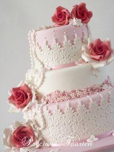 Indian Weddings Inspirations. Pink Wedding Cake. Repinned by #indianweddingsmag indianweddingsmag.com
