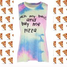 Pizza Tye Dye Tank M   3 available! Tops Tank Tops