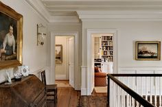 """White is classic, formal, refined and restrained in style. For your Greek revival or federal interiors, white will be expected on trim and on walls in the kitchen and third-floor bedrooms. Make the mistake of painting everything white, and your home will look like a builder's """"flip."""""""