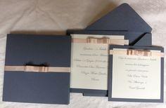 partecipazioni matrimonio partecipazione nozze cipria graphite fiocco chanel