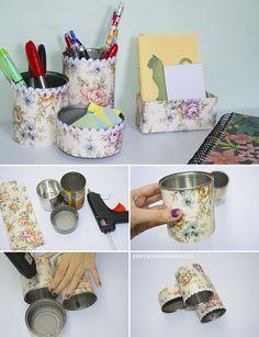 DIY: Organizadores para casa feitos com materiais reciclados (3 ideias) - Casinha Arrumada