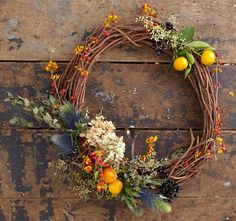 For a minimalist farmhouse look, fill a basket with Eucalyptus sprigs, or strategically place them in a fresh wreath with other cuttings. Watch and learn how to make this colorful winter wreath with eucalyptus, grapevine, and more here.