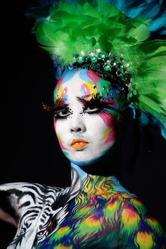 A model participates in the 2010 Daegu International Bodypainting Festival on August 28, 2010 in Daegu, South Korea. The festival is the lar...