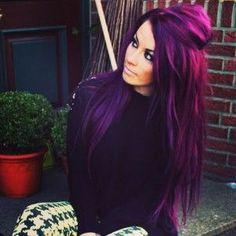 Gorgeous Deep Purple Haircolor 2017