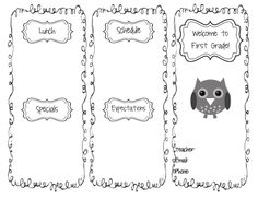 The Go To Teacher: Beginning of the Year- editable brochure template
