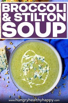 Best Soup Recipes, Healthy Soup Recipes, Healthy Meal Prep, Lunch Recipes, Broccoli And Stilton Soup, Healthy Sandwiches, Tasty Bites, Slow Cooker Soup, Homemade Soup