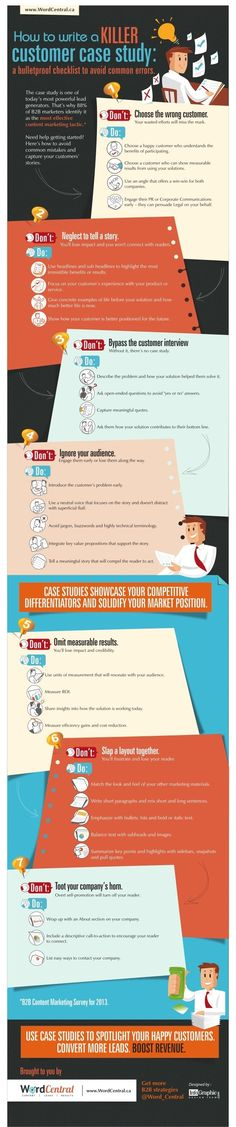 Writing - The Do's and Don'ts of Writing a Customer Case Study [Infographic] : MarketingProfs Article