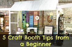 5 Craft Booth Tips from a Beginner (like the use of the crocheted table cloth on the round table.