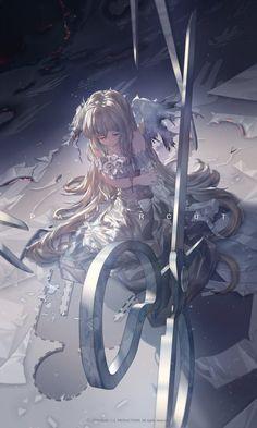 Anime Girls - New Ideas Anime Art Fantasy, Fantasy Kunst, Anime Angel, Anime Girls, Anime Art Girl, Art Manga, Manga Anime, Anime Wolf, Anime Hair