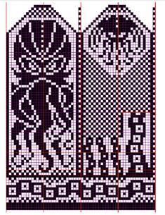Knitting Charts, Knitting Stitches, Knitting Yarn, Knitting Patterns, Knitted Mittens Pattern, Knit Mittens, Loom Beading, Beading Patterns, Cross Stitch Embroidery