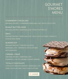 Gourmet Smores Menu - Marshmallow Roasting Day: VeryJane Blog //  It just doesn't seem right to eat a perfectly roasted marshmallow by itself. Thus - our Gourmet Smores Menu.