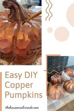 Easy DIY Copper Pumpkins - The House on Silverado