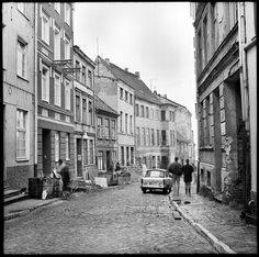 Historisches Foto: Burgwall #Rostock 1989