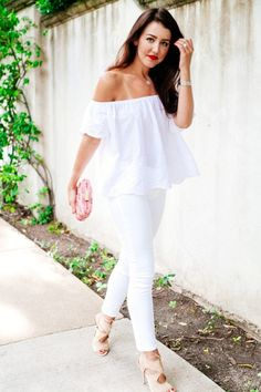white off shoulder top