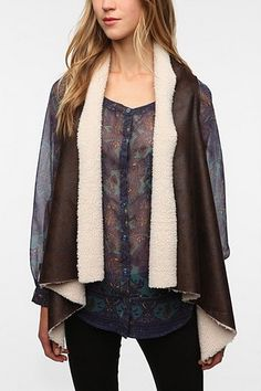 Staring At Stars Faux Suede Sherpa Lined Vest, uo - $99