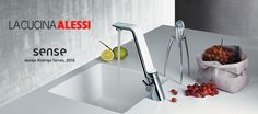 Alessi Sense by Oras is an electronic faucet that combines design and sustainable technology. Sense enables us to save water in an innovative way, without sacrificing esthetics and usability.