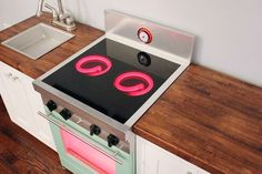 Mini Kitchen Masterpiece -- with light up burners! Childrens Play Kitchen, Diy Kids Kitchen, Mini Kitchen, Awesome Kitchen, Young House Love, Girls Bedroom Furniture, Kids Furniture, Furniture Design, Felt Food Patterns