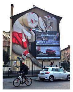 Zeds1 Street Art Mural in Milan, Italy. Photo ©Hookedblog / Mark Rigney